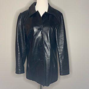 Worthington genuine leather coat